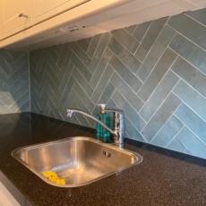 Keuken visgraat tegels