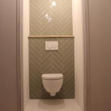 Toilet visgraat tegels